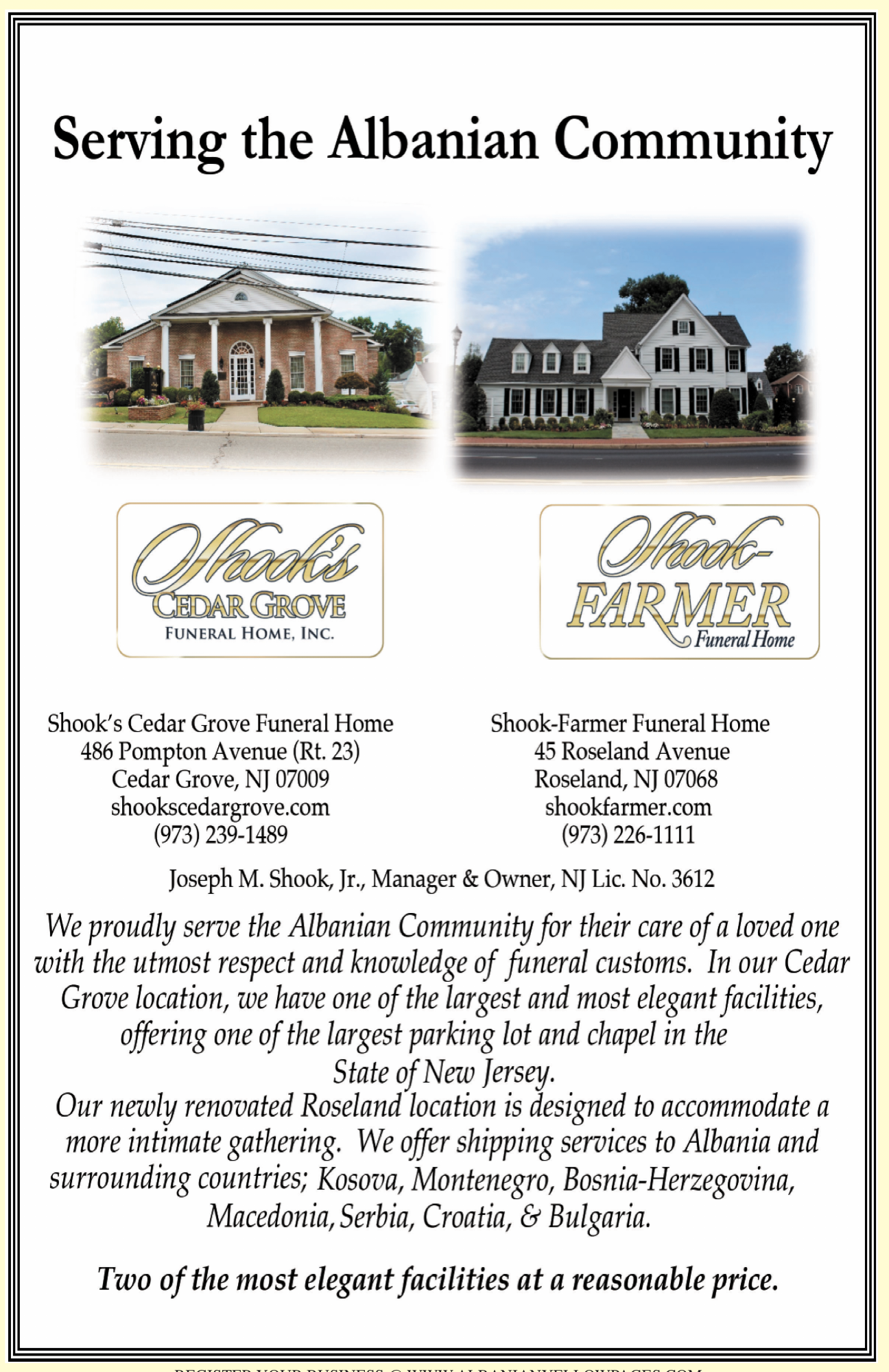 Shook Farmer Funeral Home Albanian Yellow Pages