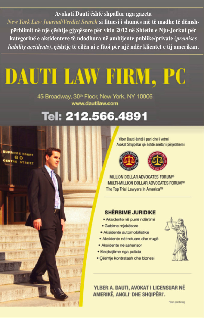 Dauti law firm p c albanian yellow pages for 1250 broadway 30th floor new york ny 10001
