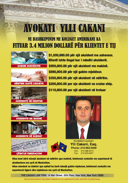 Ylli cakani law firm albanian yellow pages for 14 wall street 20th floor